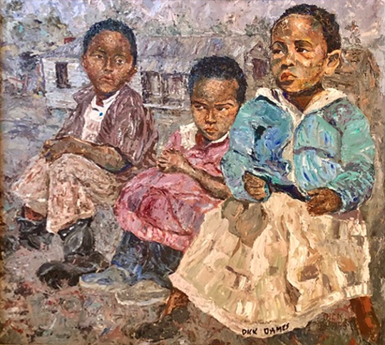 """Jefferson Arts Gallery and the Aucilla Research Institute : Richard Ohmes: """"A Renaissance Man  Paintings, Sculpture, Photography of African American life in the 1950's and artifacts he discovered diving in the Aucilla River opens Oct. 4 at in Monticello."""