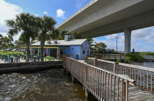 Located near the southeast corner of the Roosevelt Bridge, the Pelican Cafe overlooks the St. Lucie River, giving its customers a relaxing view of the waterway, just north of Flagler Park in downtown Stuart. The cafe is facing a challenge on extending their short 5-year lease with the city, which expires in October 2021.