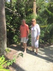 Bill and Barbara Brooner spent Sept. 21 strolling through McKee Botanical Garden in Vero Beach, admiring the beautiful waterlilies in bloom.