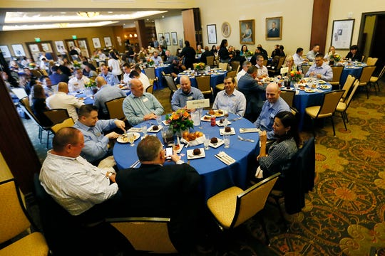 El Paso Community Foundation holds a luncheon to honor first responders at the Aug. 3 Walmart shooting Wednesday, Oct. 2, at the El Paso Community Foundation Room in El Paso. El Paso Community Foundation received a large donation from Albertsons towards the foundation shooting fund.