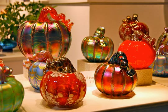 Glass pumpkins are the type of items that will be sold at the 30th Harvest Festival Original Art & Craft Show Ventura County Fairgrounds Oct. 4-6.