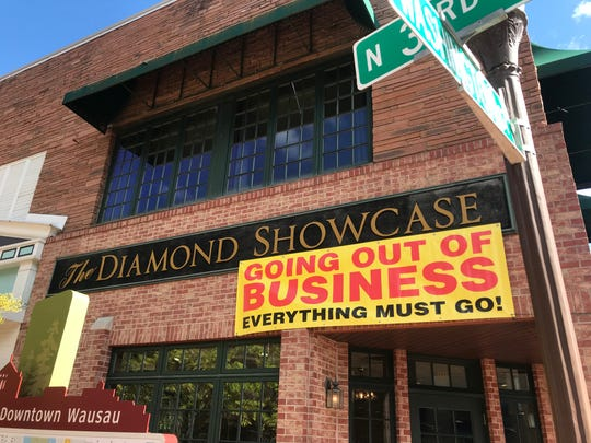 The Diamond Showcase, pictured here on Saturday, Sept. 28, 2019, will close by the end of the year. The family jeweler has a long history in the Wausau area.