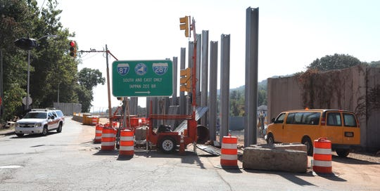 The entrance to the southbound Thruway from South Broadway in South Nyack Oct. 2, 2019. The entrance will be closed once the Exit 10 reconfiguration is completed.