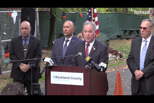 Rockland County Executive Ed Day presents his proposed 2020 county budget, including the rebuilding of the Hi-Tor Animal Care Center in Pomona Oct. 2, 2019.