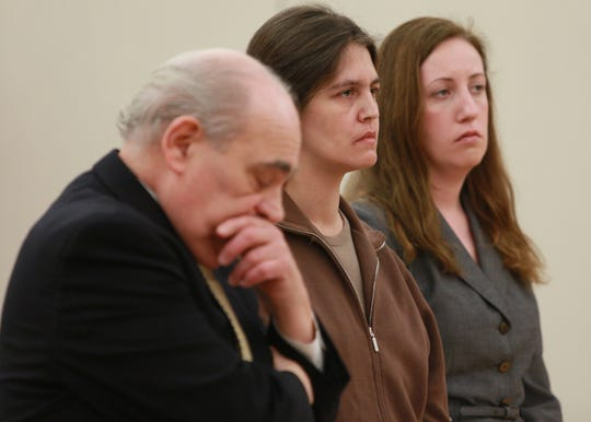 Stacey Pagli Stacey Pagli, center, stands quietly as defense attorney Allan Focarile, left, and Ellen Pachnanda, right, react to Pagli's sentencing at the Westchester County Courthouse in White Plains on April 5, 2011. Pagli was sentenced by acting state Supreme Court Justice Richard Molea to 20 years in prison for killing 18-year-old daughter Marissa Pagli in their Manhattanville College apartment in 2010. ( Xavier Mascareñas / The Journal News )