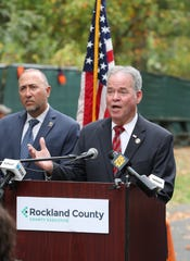 Rockland County Executive Ed Day presents his proposed 2020 county budget at the Hi-Tor Animal Care Center in Pomona Oct. 2, 2019.