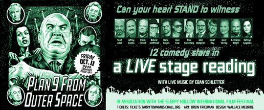 """Plan 9 From Outer Space"" live stage reading PLAN 9 FROM OUTER SPACE live stage reading - Drew Friedman"