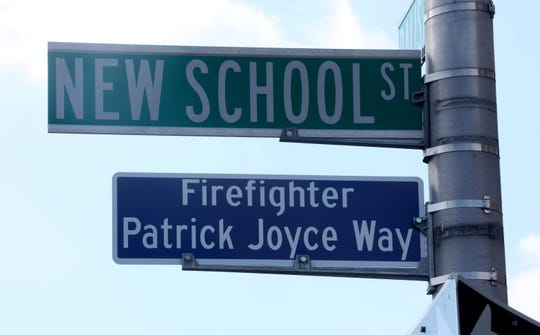 New School Street in Yonkers was named in honor of Yonkers firefighter Patrick Joyce during a ceremony Oct. 2, 2019. Patrick Joyce died fighting a fire on Waverly Street in Yonkers on Oct. 2, 2009. Members of the Joyce family, the  fire department, Mayor Mike Spano and other members of city government were on hand for the ceremony.