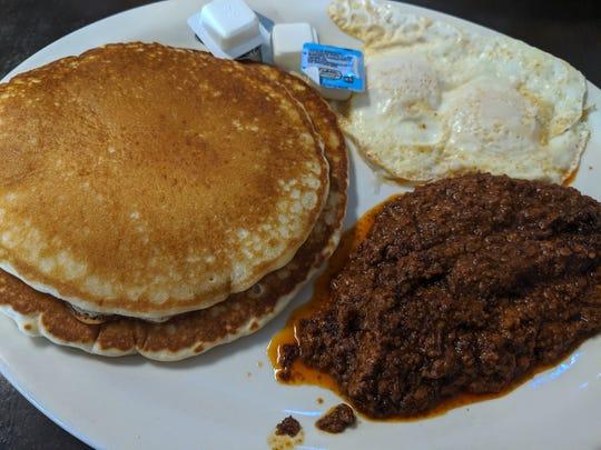Breakfast special with chorizo at El Norteno 2.