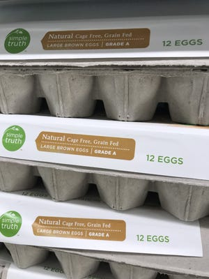 This label indicates to consumers that the hens producing these eggs were in a cage free environment and fed grain.