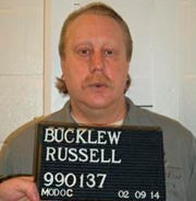 This undated file photo provided by the Missouri Department of Corrections shows Russell Bucklew. Bucklew was executed by injection Oct. 1, 2019 for killing a southeast Missouri man during a violent crime rampage in 1996. Bucklew suffers from a rare medical condition that causes blood-filled tumors in his head, neck and throat, and he had a tracheostomy tube inserted in 2018.