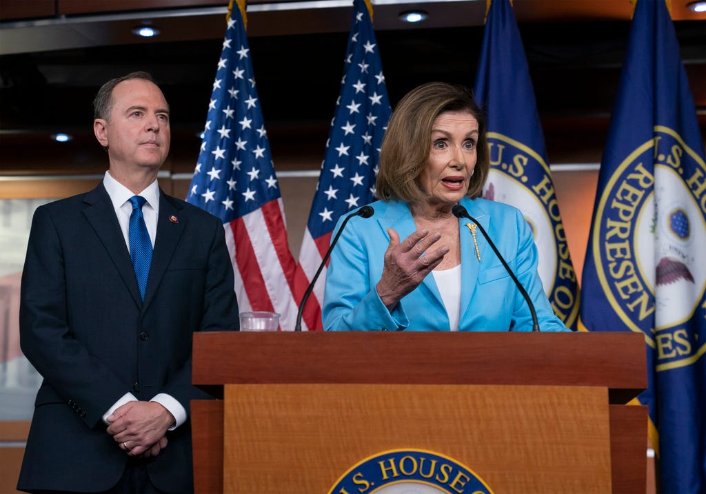 Nancy Pelosi: Trump 'scared' of impeachment inquiry, trying to divert attention