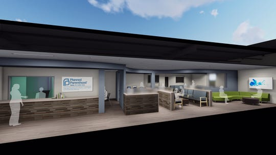 A rendering of the Planned Parenthood clinic in Fairfield Heights, Illinois.