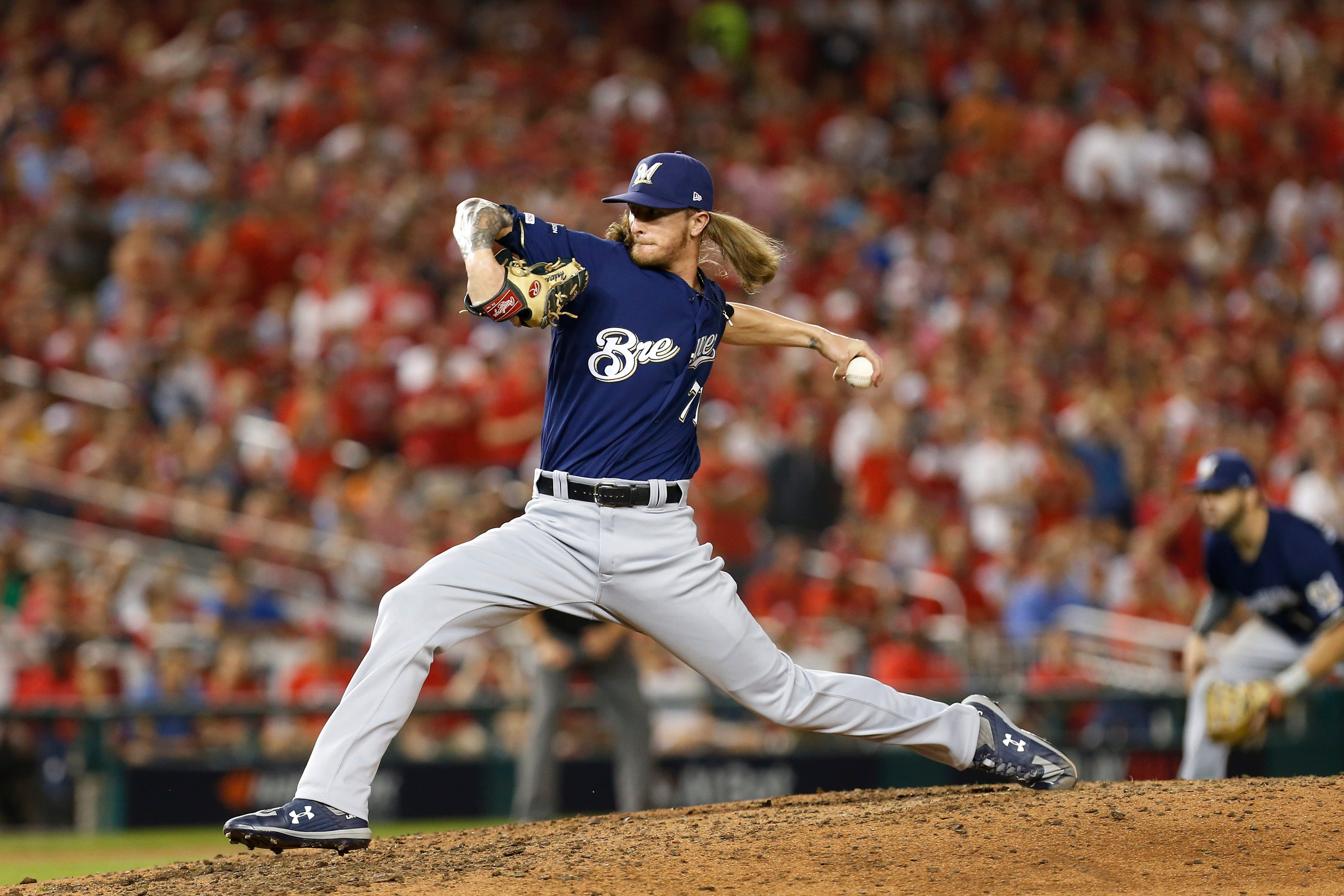 Brewers season unravels in faithful eight inning of NL wild-card game against Nationals