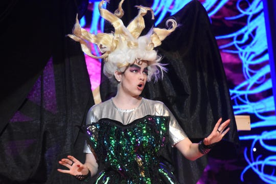 """Abigail Rivers stars as Ursula in the Bolton Conservatory's presentation of Disney's """"The Little Mermaid."""" The show will run Thursday through Sunday in the Bolton High School auditorium."""