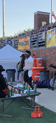 Hardin-Simmons running back Jaquan Hemphill stands on the sideline against East Texas Baptist in 2018. Hemphill injured his shoulder and missed the rest of the season before coming back in 2019 with a medical redshirt to break the HSU career rushing touchdown record.