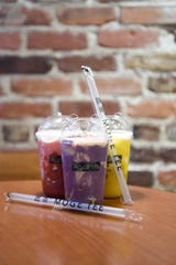 Mšge Tee in downtown Asheville serves a variety of bubble milk teas including strawberry, taro and mango.
