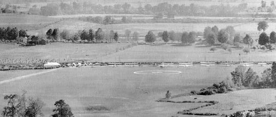 The first day of the air race at the West Endicott airfield on Oct. 8, 1919.