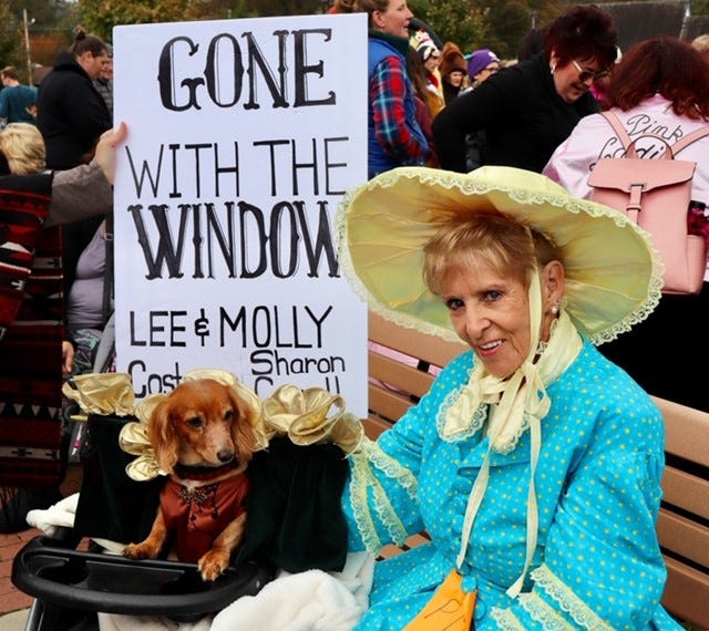 """Lee and Molly Kerlee dress up in a """"Gone With the Wind"""" theme in last year's Howl-O-Ween Parade, which returns for its 17th year on Oct. 12."""
