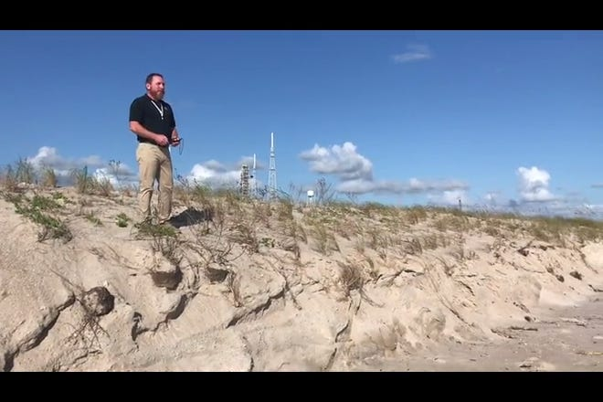 KSC is doing a dune restoration project that is over three miles long to protect the shoreline.
