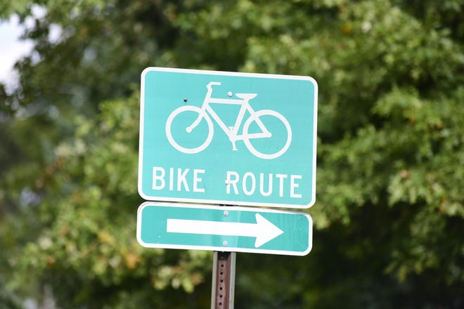 The bike path that goes through Crawford County is clearly marked by signs along the route.