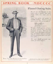 A spring fashion book from 1900 shows a man sporting an all-wool flannel suit.