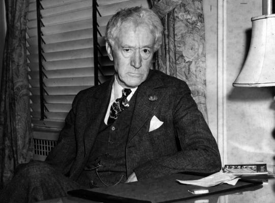 DECEMBER 7, 1939: Judge Kenesaw Mountain Landis, first commissioner of baseball, in Cincinnati, Ohio.