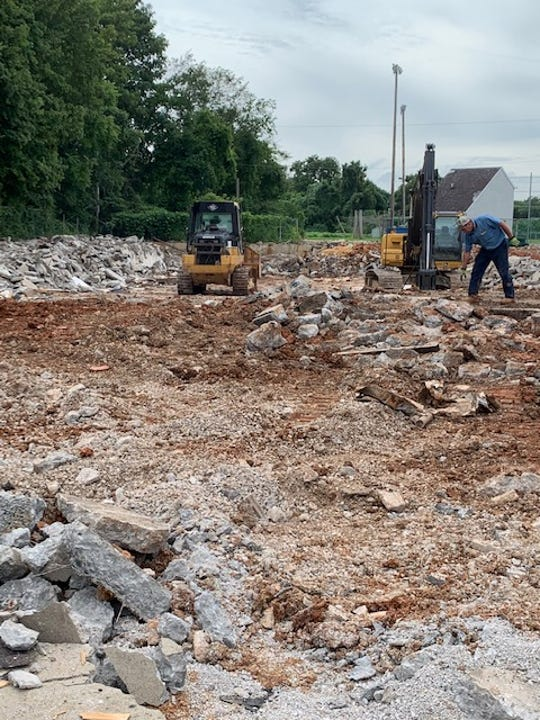The bulldozing of the retired pool began in spring of 2019.