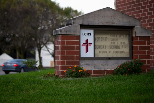 "St. Paul Lutheran Church on Thursday, Oct. 3, 2019 in Fort Dodge. Allen Henderson, senior pastor of the church, was found unresponsive outside the church at 5:45 p.m. Wednesday. Fort Dodge Police described Henderson as ""a long-time Chaplain of all area public safety agencies and first responders."""