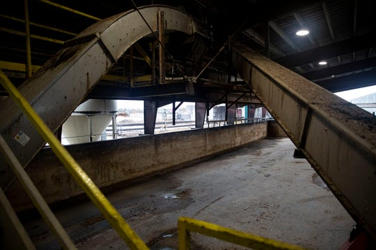 A storage space that usually holds wet distillers grain, an ethanol production byproduct used to feed cattle, sits empty after Siouxland Energy Cooperative halted its ethanol production in September.