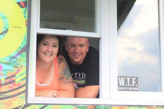 Misty and Jerrod Fontanini, owners of Curbin' Cuisine food truck and soon to be restaurant.