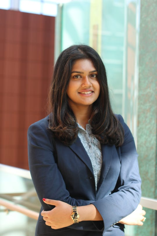Vijita Kamath, 22, a University of Michigan senior and president of Michigan Interactive Investments, an undergraduate investment club at the Stephen M. Ross School of Business.