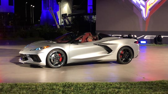Chevrolet introduced its Corvette Stingray convertible in Cape Canaveral, Florida on Wednesday, Oct. 2, 2019.
