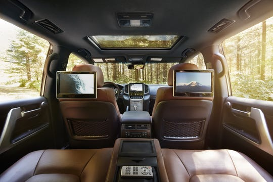 The 2020 Toyota Land Cruiser rear interior.