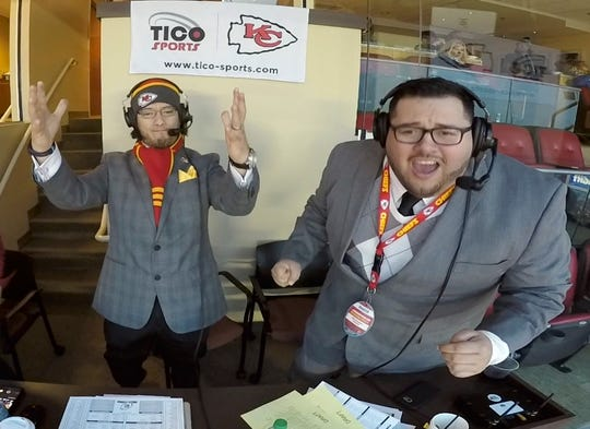 Oscar Monterroso, the color commentator, and Enrique Morales, the play-by-play man, have been calling Chiefs games in Spanish since 2011, and will broadcast Nebraska's game against Northwestern.
