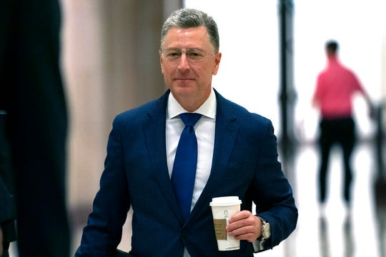 Kurt Volker, a former special envoy to Ukraine, arrives for a closed-door interview with House investigators, as House Democrats proceed with the impeachment inquiry of President Donald Trump, at the Capitol in Washington, Thursday, Oct. 3, 2019.