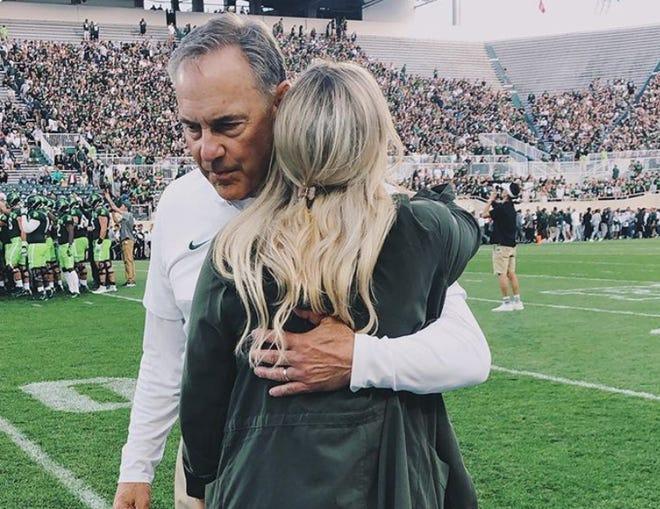 Mark Dantonio with his daughter Lauren.