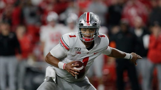 Ohio State quarterback Justin Fields has thrown for 16 touchdowns against no interceptions this season.