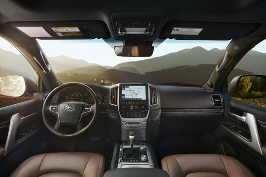 The 2020 Toyota Land Cruiser interior.