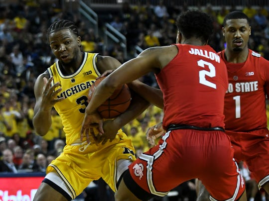 """Michigan guard Zavier Simpson on the team's chronically low preseason rankings: """"I've been through it three times. I don't know why that is. I'm not sure why people rank us low. At the end of the day, that's their opinion."""""""