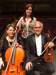 "From left: Christine Lowe-Diemecke (cello), Eva Virsik (piano) and Augusto Diemecke (violin) will perform in a trio during ""The Charm of Old Vienna"" concert, a part of the Musicians' Choice Chamber Music Series."