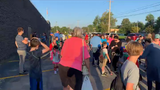 Hundreds of local students, parents and teachers were on the move early Wednesday in recognition of National Walk to School Day.