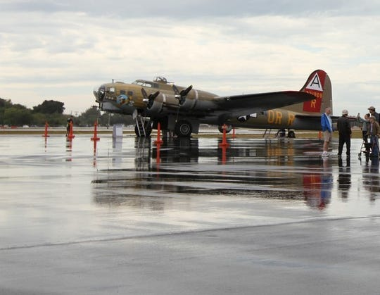 The 909, a B-17 Flying Fortress that crashed Wednesday in Connecticut killing seven, had often visited Southwest Florida during the Wings of Freedom Tour. This photo is from a 2015 visit at Page Field.