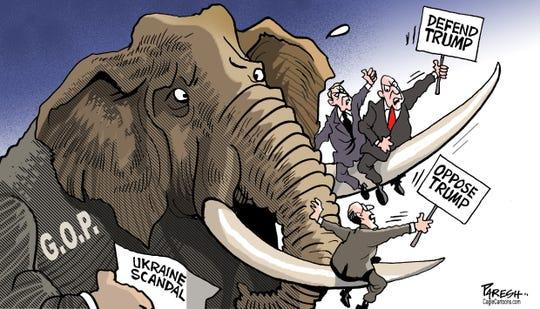 GOP split on defending Trump.