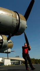 Charles Wheatley Jr. prepares the B-17 Flying Fortress for flight Wednesday at the Naples Municipal Airport in Naples. The WWII plane also made a stop at Page Field Airport in Fort Myers in 2008.   The B-17 Flying Fortress that crashed on takeoff in Connecticut Wednesday, killing seven people and injuring six others, had made several visits to Southwest Florida airports over the years as part of a vintage World War II aircraft tour.