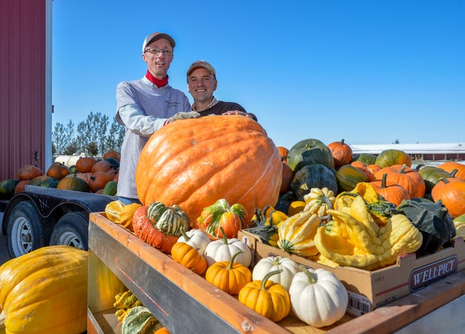Jordan Schroeder and his father Phil are excited for Jordan's Pumpkins for a Cause, an annual pumpkin patch fundraiser, which will take place on Saturday October 5, 2019.