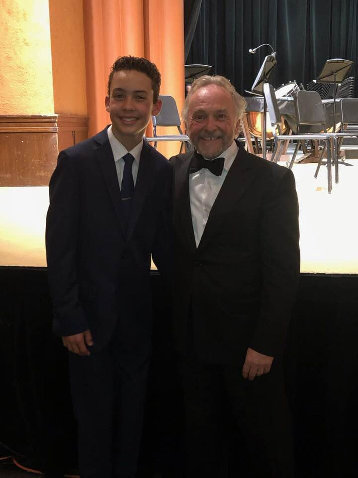 Benjamin Hodson with Maestro John Zoltek of the Glacier Symphony