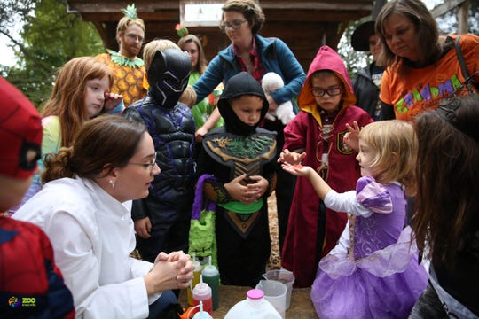 Guests enjoy the BOO! at the Zoo event on Sunday Oct. 14, 2018.