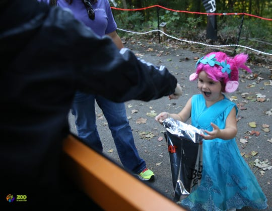 Collecting goodies on the Treat Trail is one of the main events. Oct. 11, 2018.
