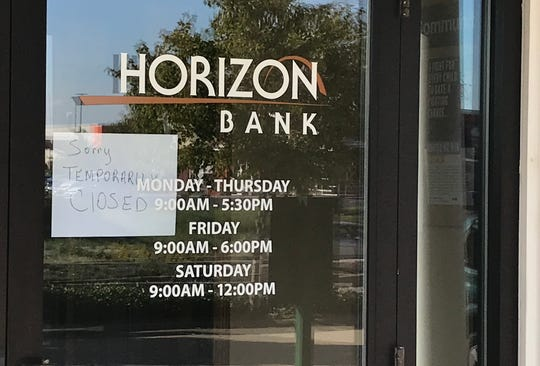 The Horizon Bank on Veterans Memorial Parkway temporarily closed Thursday afternoon after it was held up.